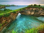tempat destinasi wisata terbaik pantai pasih uuh broken beach nusa penida pulau bali paling populer sunset sunrise spot instagrammable keren kece bagus ngehits