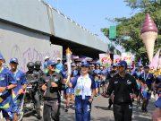 pembawa obor asian games 2018 indonesia jakarta palembang kota banung obor raksasa es krim torch relay event terbaru berita press release aice merek produk
