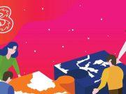 bantuan donasi tri provider internet three press release corporate social responsibilty csr program sosial korban bencana gempa tsunami palu donggala sigi sulawesi tengah jaringan