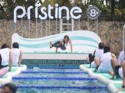 pristine floating yoga manfaat tubuh kesehatan kebugaran fitness wellness event terbaru pristine press release contoh studi kasus bahan materi marcomm brand activation promosi marketing pemasaran