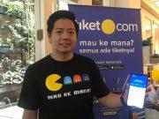 aplikasi online travel agent tiket.com online pemesanan kereta api pesawat event pertunjukan target pemasaran omset pertumbuhan persentasi berapa kali lipat kenaikan