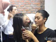 liputan event puspita martha international beauty school proses tahapan langkah makeup tata rias rambut artis mua hairdo untuk fashion show hairstylist salon kecantikan
