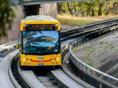 jenis macam alat kendaraan moda transportasi umum pemerintah kaji rencara o-bahn gabungan bus brt kereta lrt bus rapid transit light