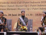 frederika alexis cull puteri indonesia miss universe 2019 bawa angkat batik tradisional pemenang peserta fashion designer grand opening sleman city hall