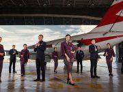 Seragma awak kabin Garuda Indonesia terbaru bernama Tenun Flight karya Didiet Maulana