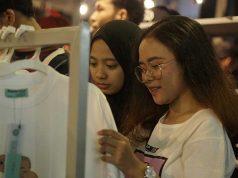 Telkomsel Kickfest di Bandung menampilkan beragam merek clothing distro lokal Indonesia
