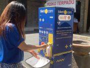 tiket.com memberikan bantuan berupa fasilitas tempat cuci tangan di tempat wisata Bali