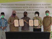 Bupati Karawang meresmikan Tempat Pengolahan Sampah TPS3R Baraya Runtah