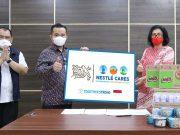 Nestlé Indonesia melalui Nestlé Cares menyalurkan bantuan untuk RSDC Wisma Haji Pondok Gede