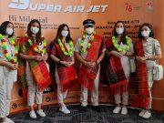 SUPER AIR JET melayani penerbangan dari Jakarta menuju Medan Kualanamu Batam